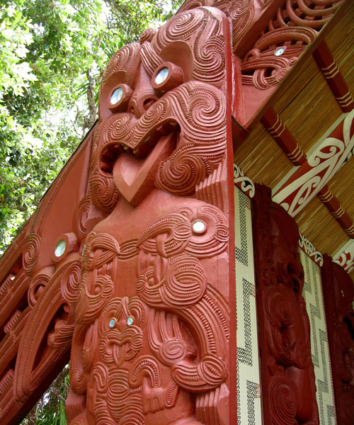 Waitangi Treaty Grounds - Maori Figure