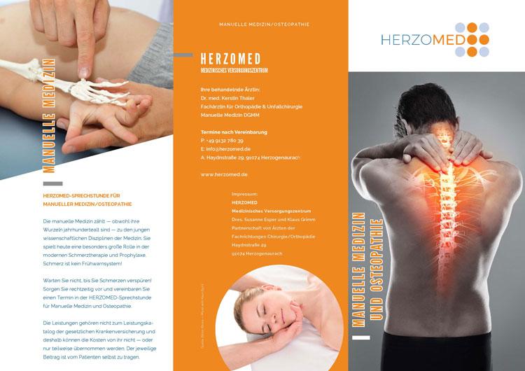 HERZOMED Manuelle Medizin Ostepathie Flyer
