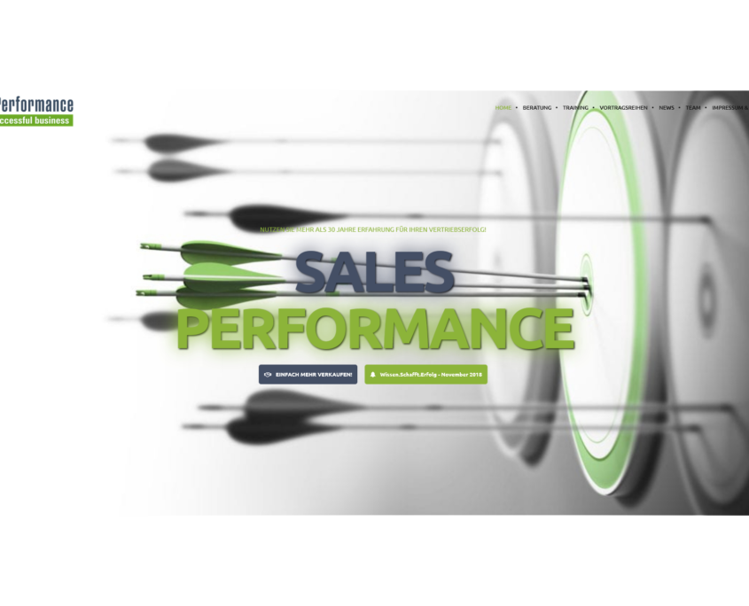 Sales Performance Titel 2018