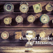 Content Marketing auf Messenger Diensten WhatsApp