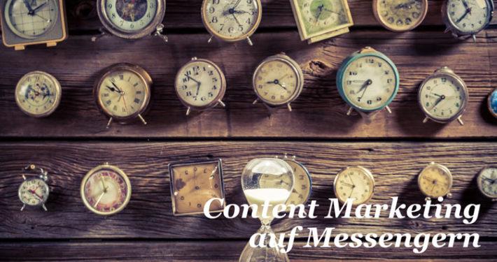 Content Marketing auf Messenger Diensten WhatsApp