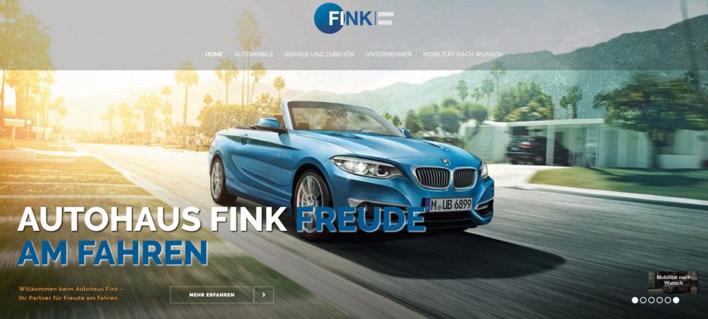 Autohaus Fink Erlangen Webseite