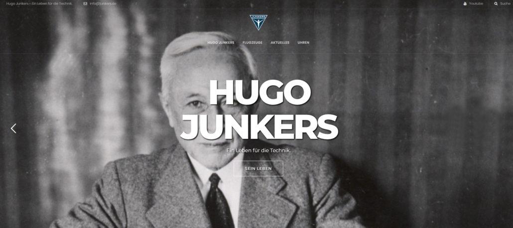 Hugo Junkers München Webseite