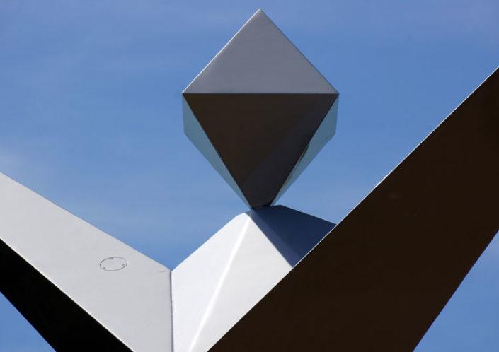 Hugo Junkers Ikarus Denkmal - Muldebrücke Dessau 25.06.2019