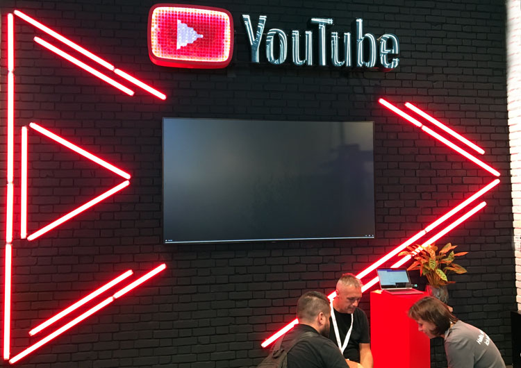 DMEXCO YouTube Stand Cologne.