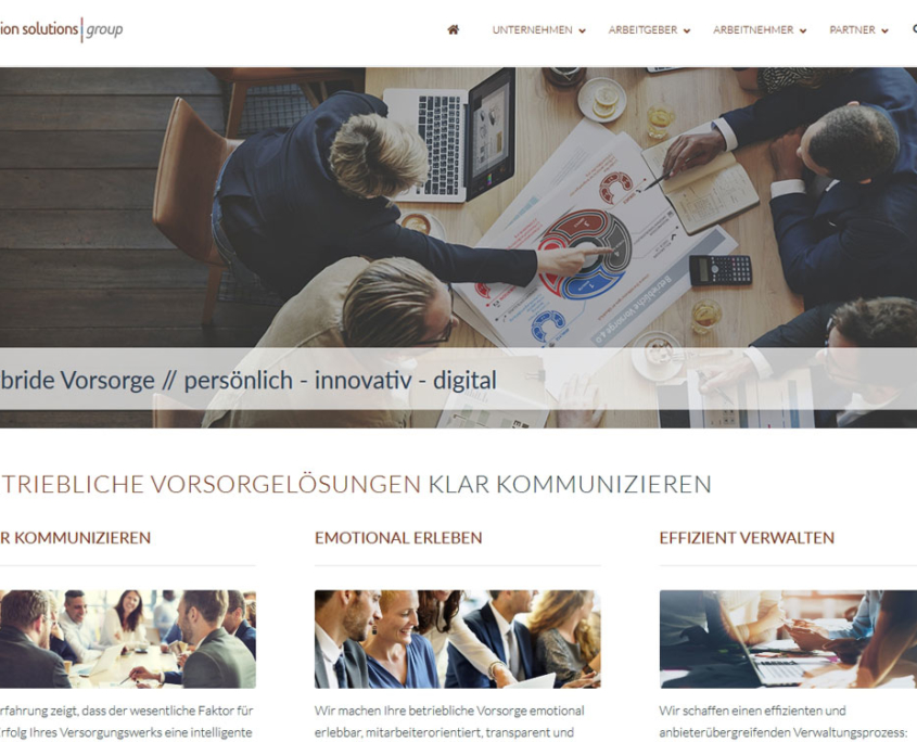 Pension Solutions Group Webseite