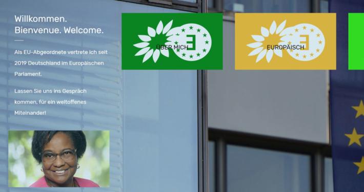 The Greens Herzberger-Fofana Brüssel Webseite