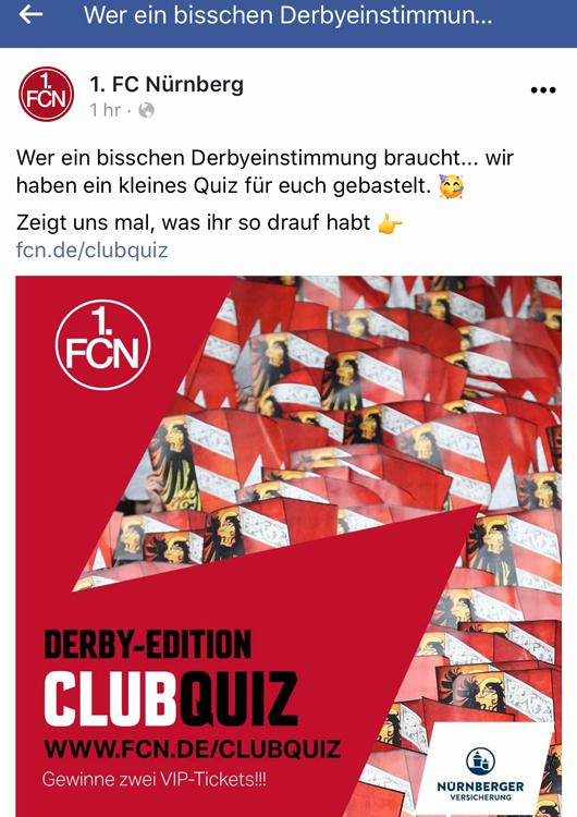 1. FC Nürnberg Derby Greuther Fürth 2020 Kauri Spirit