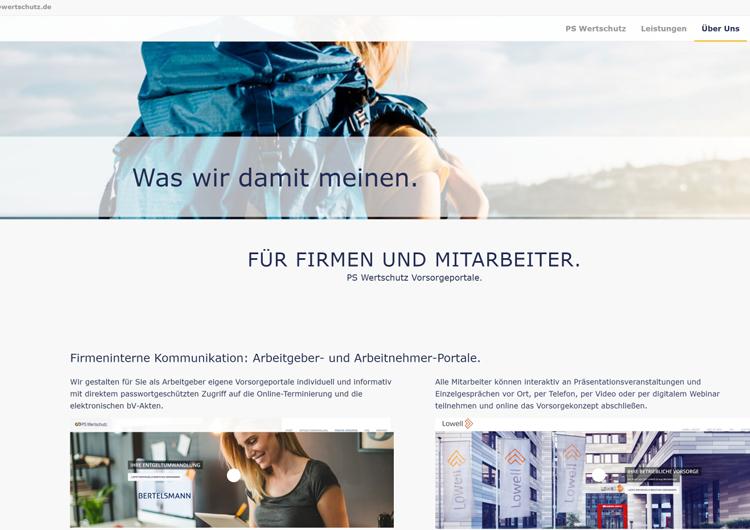PS Wertschutz Marketer Webseite 2020