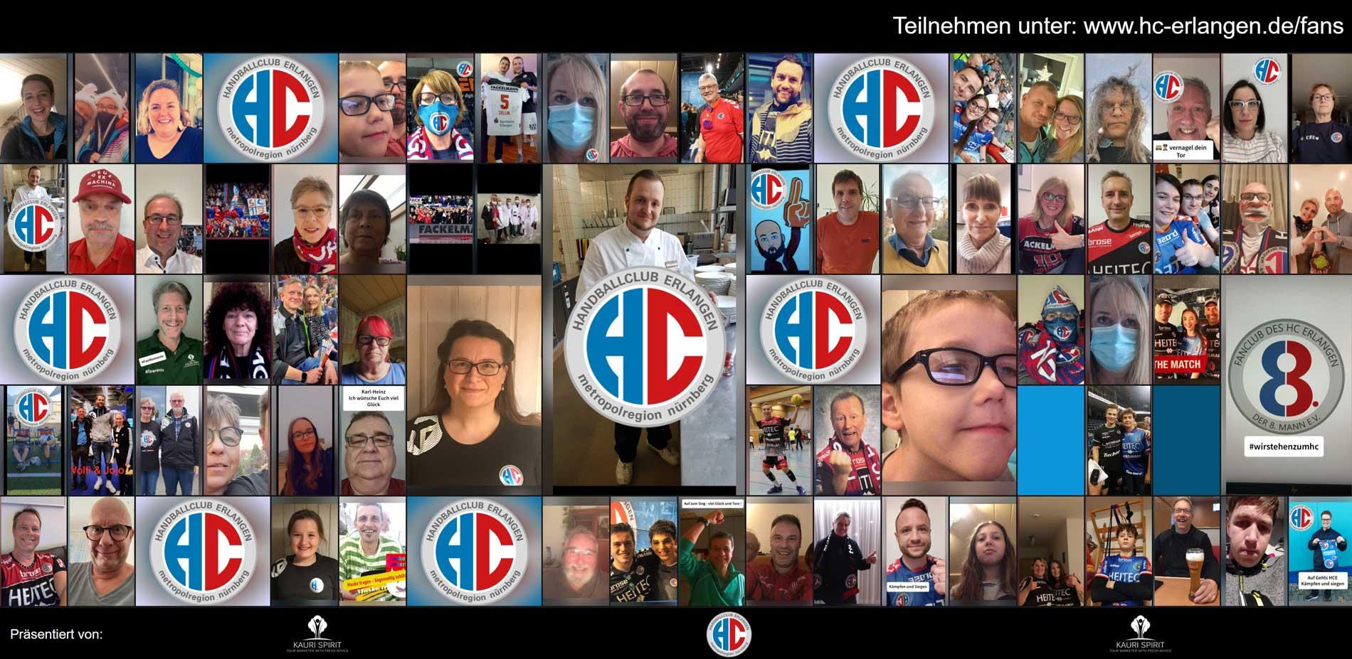 HC Erlangen vs. HWB Balingen-Weilstetten Nürnberg Fan-Collage 11.2020