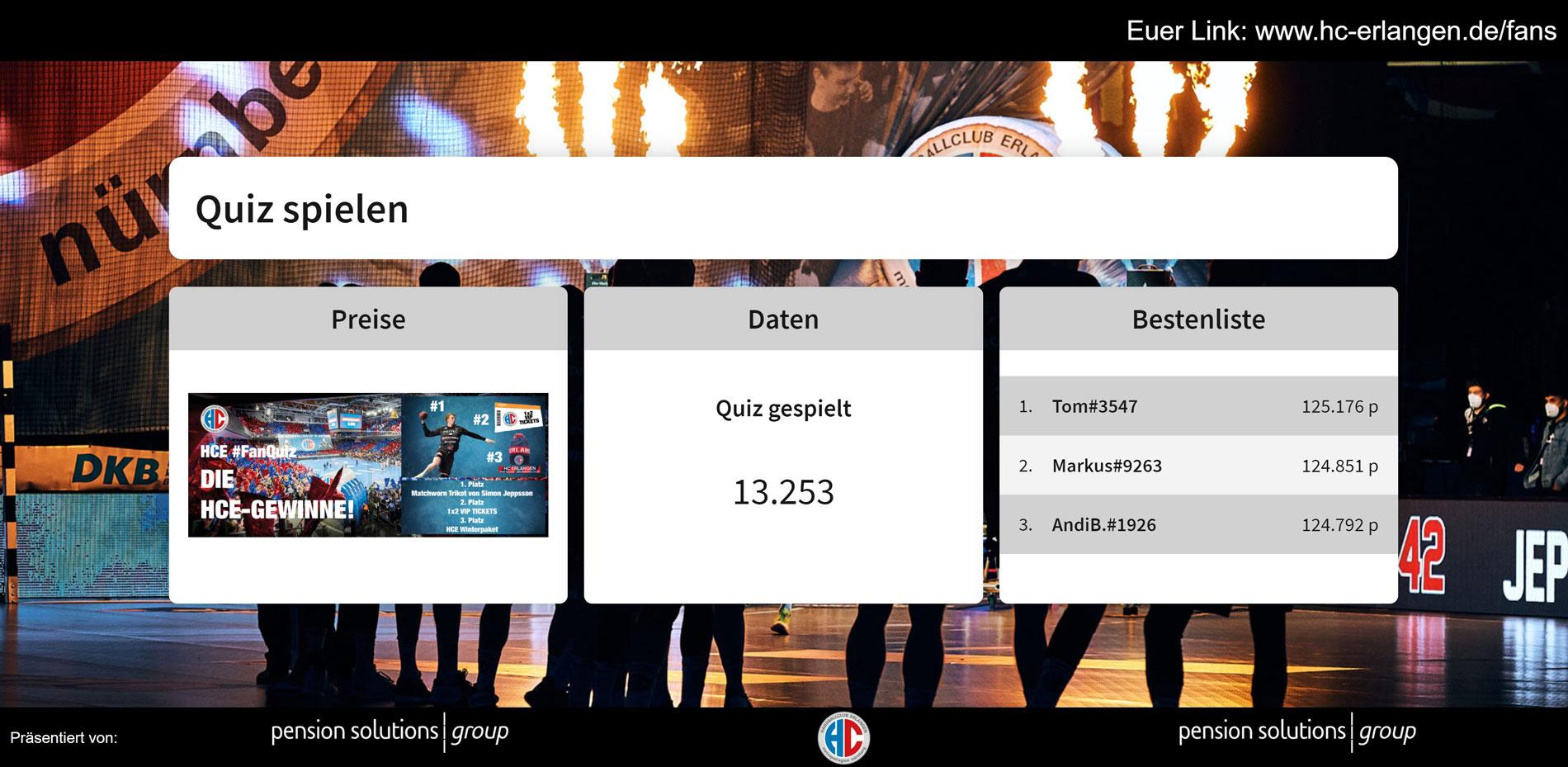 HC Erlangen vs. HWB Balingen-Weilstetten Nürnberg Fan-Quiz 11.2020
