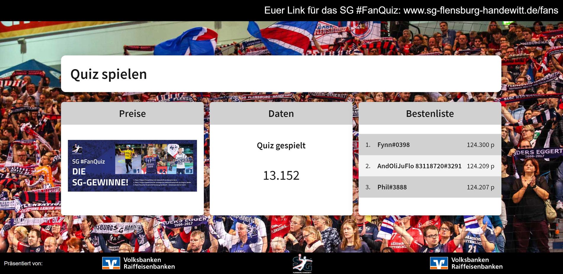 SG Flensburg-Handewitt vs. MT Melsungen Flensburg Fan-Quiz 11.2020