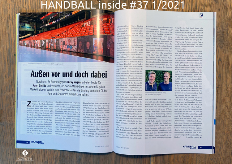 HANDBALL inside Ausgabe #37 1/2021